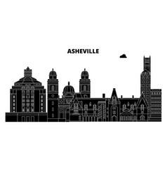 Ashevilleunited states skyline travel vector