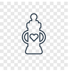 baby bottle concept linear icon isolated on vector image