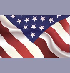 Background american flag in folds star-spangled vector