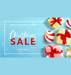 beautiful banner for christmas sale vector image