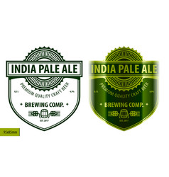 beer label template in modern style vector image