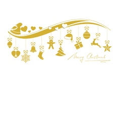 Beige golden wavy border with 12 hanging vector