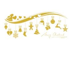 Beige golden wavy border with 12 hanging vector image