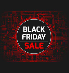black friday red banner vector image