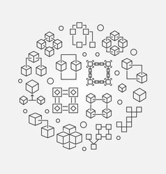 Block chain technology symbol blockchain vector