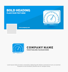 Blue business logo template for dashboard device vector
