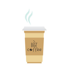 But first coffee lettering quote for cafe vector
