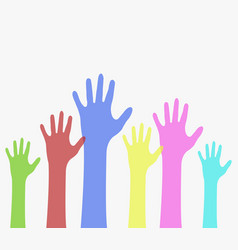colored hands vector image
