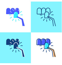 Dental veneer icon set in flat and line style vector