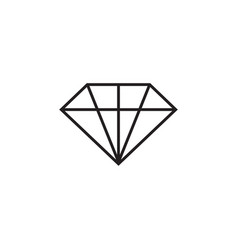 diamond icon graphic design template vector image