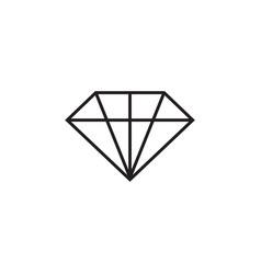 diamond icon graphic design template vector image