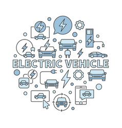Electric vehicle circular - ev vector