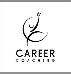 Empower motivation logo design vector