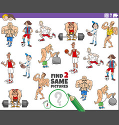 Find two same athlete characters task vector