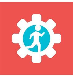 Gear Wheel with Running Man vector