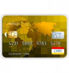 gold credit card vector image