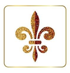 Golden fleur-de-lis heraldic emblem 1 vector