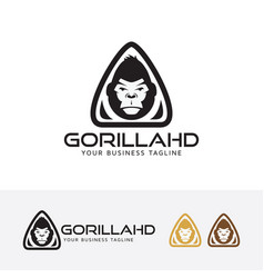 Gorilla head logo design vector