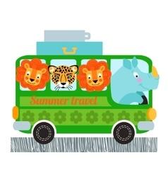 Green bus design vector image