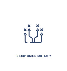 Group union military strategy concept 2 colored vector