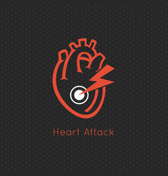 heart attack logo icon design vector image