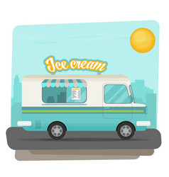 Ice cream flat vector