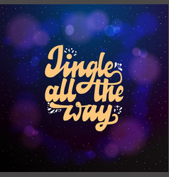 jingle all the way typographic emblem logo vector image