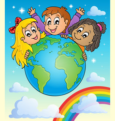 Kids thematic image 2 vector