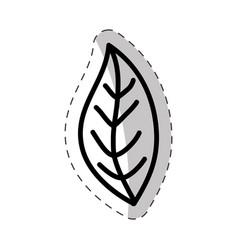 leaf plant flora cut line vector image
