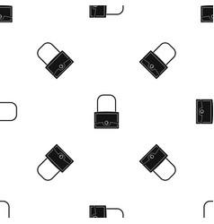 little bag pattern seamless black vector image