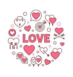 Love round creative or design vector