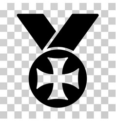 Maltese medal icon vector