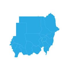 Map of sudan high detailed map - sudan vector
