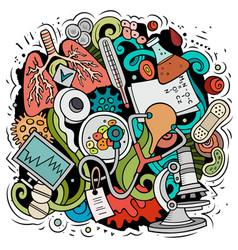 medicine cartoon doodle design vector image