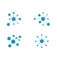 Molecule symbol logo template vector