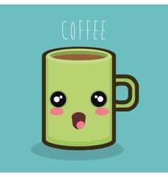 mug cartoon coffee icon graphic vector image