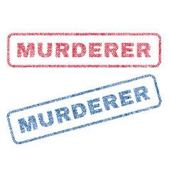 Murderer textile stamps vector