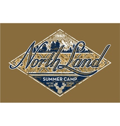 North Land summer camp vector image