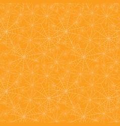 orange spiderweb texture halloween seamless vector image