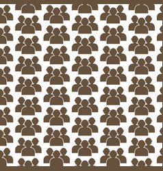 Pattern background people icon vector