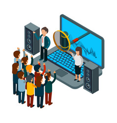 People sing choir recording song vector