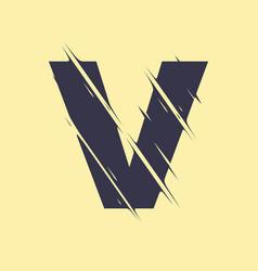scribbled letter v vector image