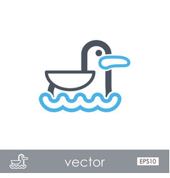 seagull outline icon summer vacation vector image