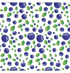Seamless background with blueberries vector image vector image
