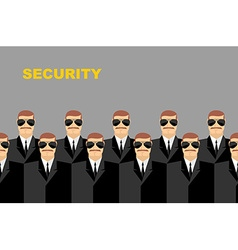 Security Bodyguard Pattern of men in glasses vector image