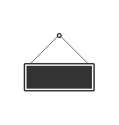 signboard icon isolated hanging sign flat design vector image