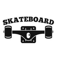 skateboard tool logo simple style vector image
