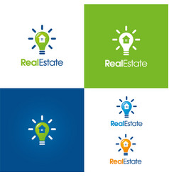 smart real estate logo and icon vector image