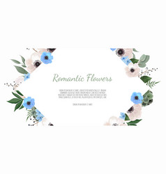 spring sale floral banner with flowers on vector image