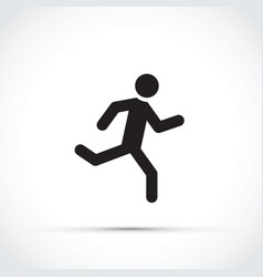 Stick man running vector